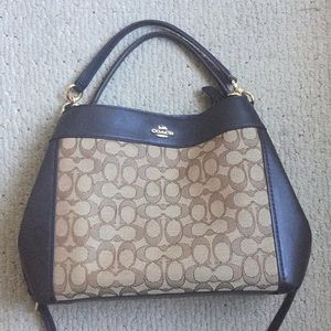Like New Small Lexy Tote Shoulder Coach Bag